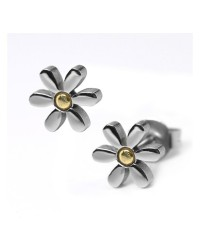 HerSpirit ladies stainless steel daisy ear studs