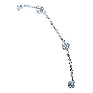 HerSpirit ladies silver coated bracelet with transparent ferido balls