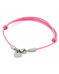 HerSpirit ladies leather bracelet with stainless steel mini-heart