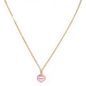 HerSpirit ladies gold coated necklace with freshwater pearl