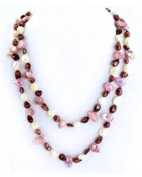 WOW ladies fashion necklace with hand-painted freshwater pearls