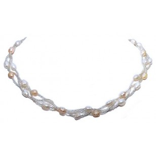 WOW ladies fashion freshwater pearl necklace