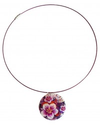 Ladies violet nacre necklace