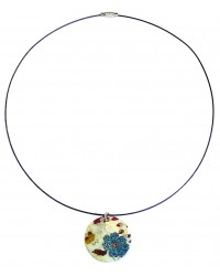 Ladies blue nacre necklace