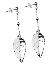HerSpirit ladies stainless steel leaf earrings
