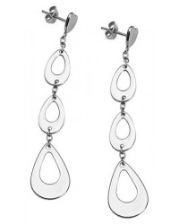 HerSpirit ladies stainless steel drop earrings
