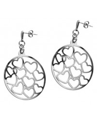 HerSpirit ladies stainless steel heart earrings