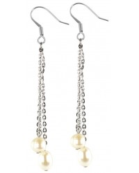 HerSpirit ladies stainless steel earrings with freshwater pearls