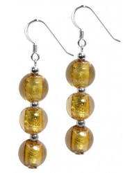 WOW ladies fashion sterling silver and venetian glass earrings