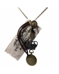 SteamPunk unisex necklace Crown